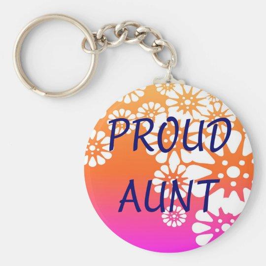 Proud Aunt Keychain