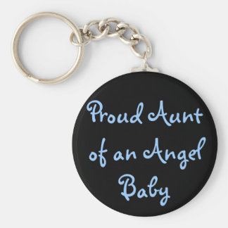Proud Aunt of an Angel Baby Key Ring