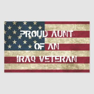 Proud Aunt of an Iraq Veteran Sticker