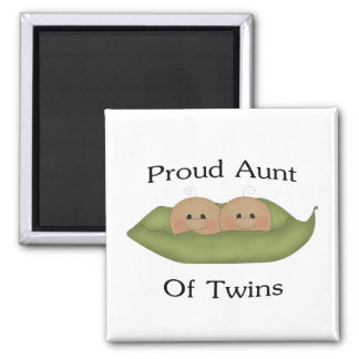 Proud Aunt Of Twins Square Magnet