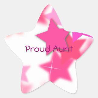 Proud Aunt Star Sticker