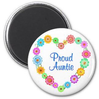 Proud Auntie Heart Fridge Magnet
