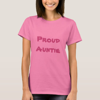 Proud Auntie long sleeve pink t shirt