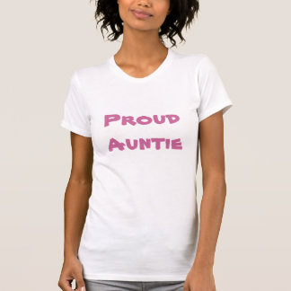Proud Auntie pink two-tone t shirt