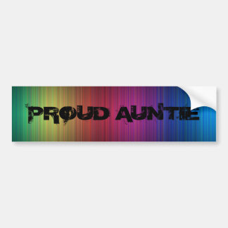 Proud Auntie rainbow bumper sticker