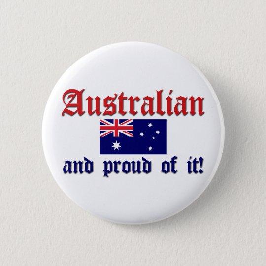Proud Australian 6 Cm Round Badge