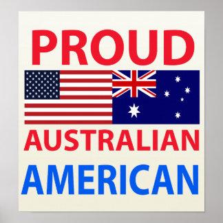 Proud Australian American Print