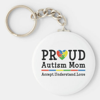 Proud Autism Mom Key Ring