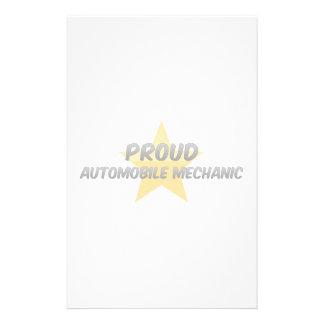 Proud Automobile Mechanic Custom Stationery