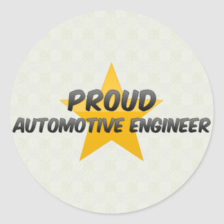 Proud Automotive Engineer Round Sticker