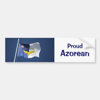 Proud azorean bumper sticker