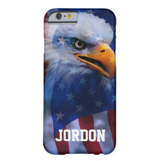 Proud Bald Eagle and American flag Barely There iPhone 6 Case