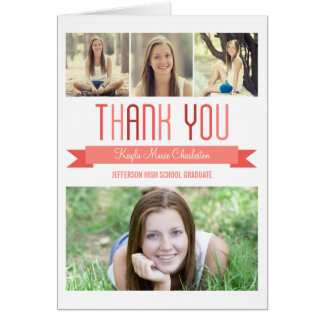 Proud Banner Graduation Thank You Card