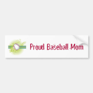 Proud Baseball Mom Bumper Sticker