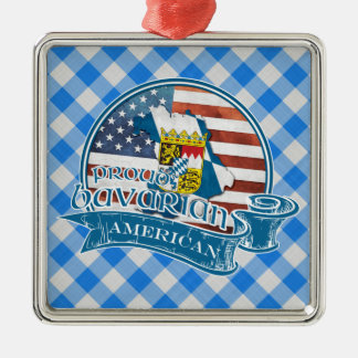 Proud Bavarian American Metal Decoration