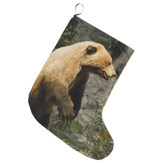 Proud Bear Large Christmas Stocking