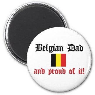 Proud Belgian Dad Refrigerator Magnets