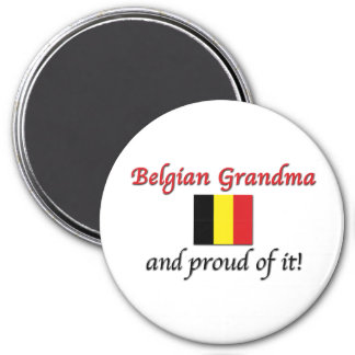 Proud Belgian Grandma 7.5 Cm Round Magnet