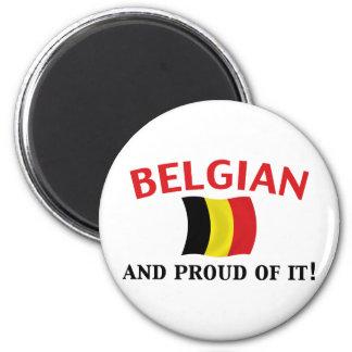 Proud Belgian 6 Cm Round Magnet