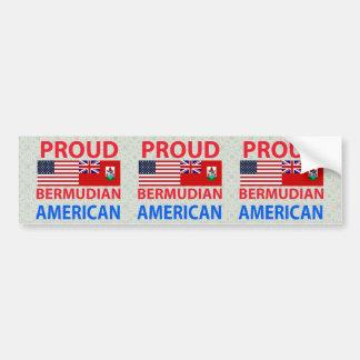 Proud Bermudian American Bumper Sticker