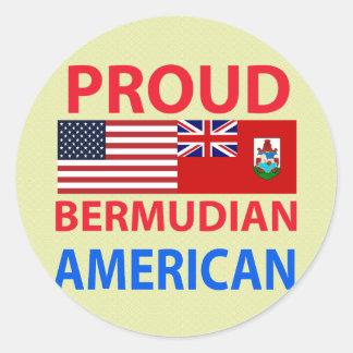 Proud Bermudian American Round Stickers