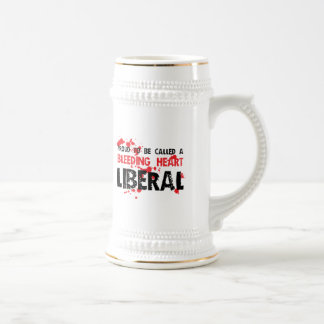 Proud Bleeding Heart Liberal Beer Stein