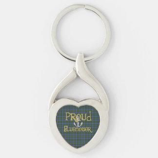 Proud Bluenoser Nova Scotia anchor key chain