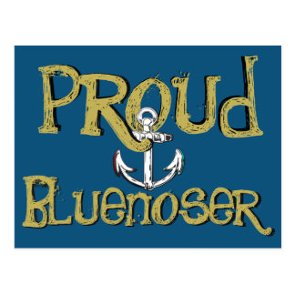 Proud Bluenoser Nova Scotia anchor  post card
