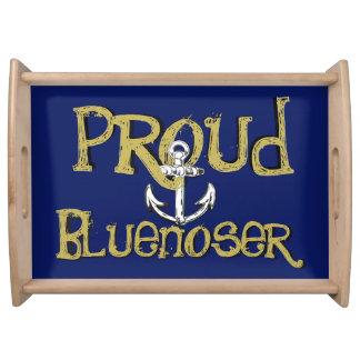 Proud Bluenoser Nova Scotia anchor   serving tray