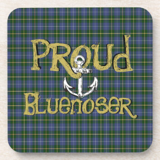 Proud Bluenoser Nova Scotia anchor set of coasters