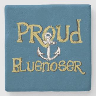 Proud Bluenoser Nova Scotia anchor  stone coaster