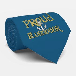 Proud Bluenoser Nova Scotia anchor  tie blue