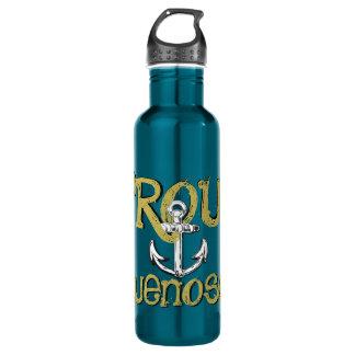 Proud Bluenoser Nova Scotia anchor water bottle
