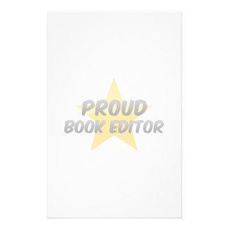 Proud Book Editor Stationery Paper
