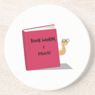 Proud Book Worm Coasters