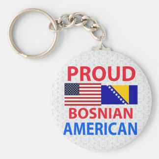 Proud Bosnian American Key Ring