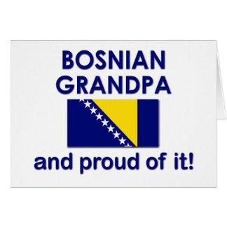 Proud Bosnian Grandpa Greeting Card