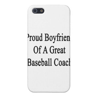 Proud Boyfriend Of A Great Baseball Coach iPhone 5 Cover