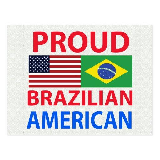 Proud Brazilian American Postcard