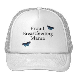 Proud Breastfeeding Mama Blue Butterflies Cap