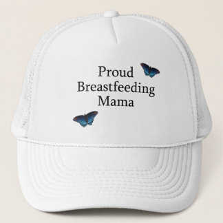 Proud Breastfeeding Mama Blue Butterflies Trucker Hat