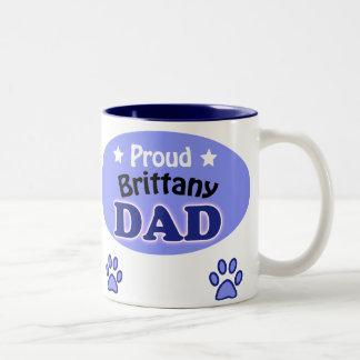 Proud Brittany Dad Two-Tone Mug