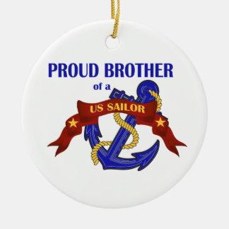 Proud Brother of a US Sailor Ornament
