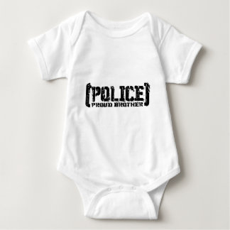 Proud Brother - POLICE Tattered Baby Bodysuit