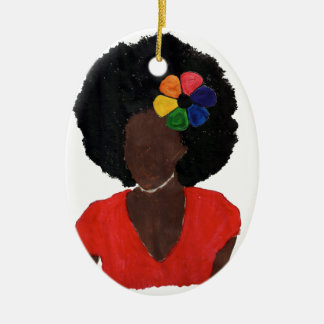 Proud Brown Lady Christmas Ornament