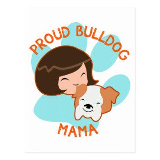 Proud Bulldog Mom Postcard