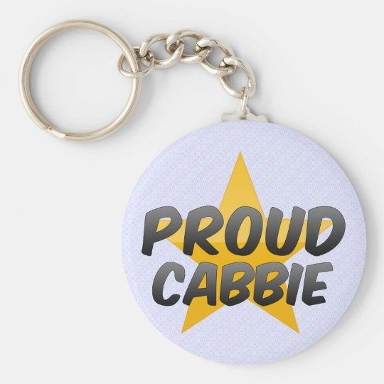 Proud Cabbie Basic Round Button Key Ring