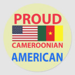 Proud Cameroonian American Round Sticker