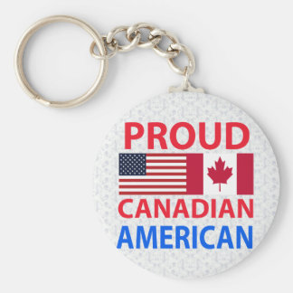 Proud Canadian American Key Ring