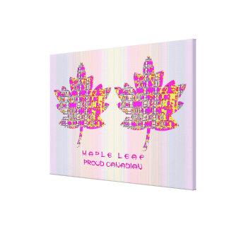 Proud CANADIAN :  Artistic MAPLE Leaf Design Stretched Canvas Prints